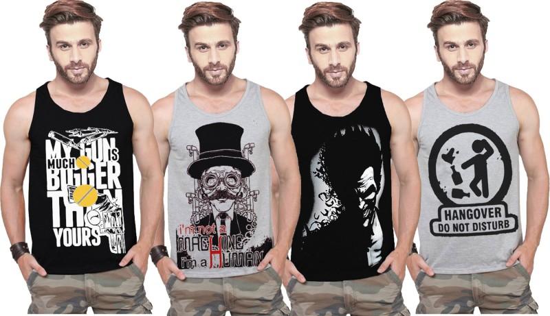 Tripr Men Vest(Pack of 4)