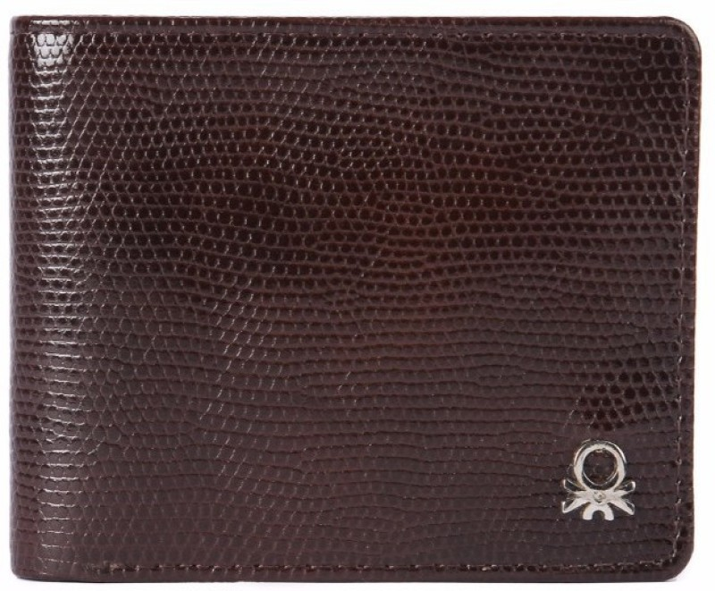United Colors of Benetton Men Brown Genuine Leather Wallet(6 Card Slots)