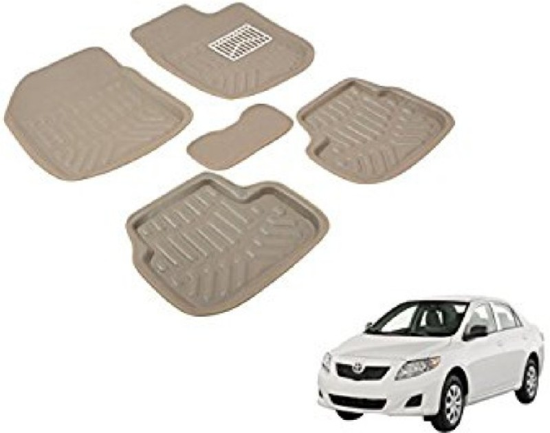 A K Traders Plastic Standard Mat For Toyota Corolla(Beige)