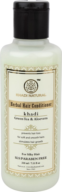Khadi Natural Organic Green Tea & ALoevera Conditioner SLS & Paraben Free(210 ml)