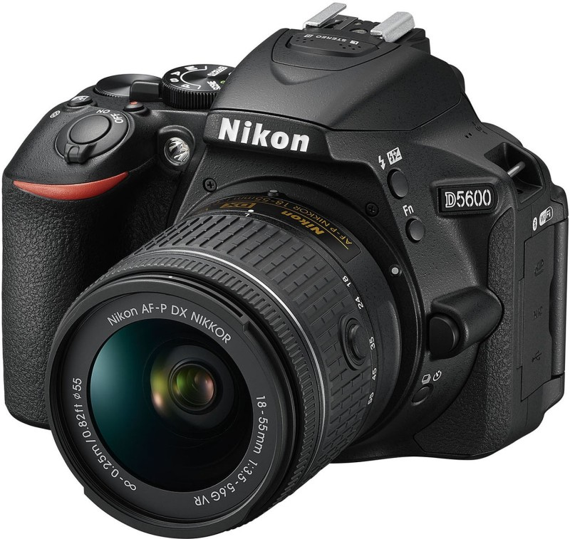 Nikon DX D5600 DSLR Camera AF-P 18-55mm VR Kit Lens(Black) D5600(18-55)