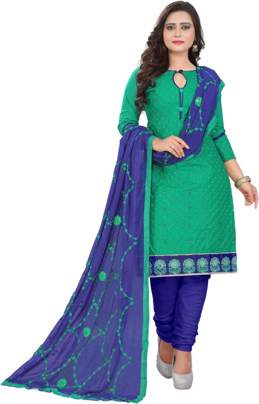 Rajnandini Cotton Embroidered Salwar Suit Dupatta Material(Un-stitched)