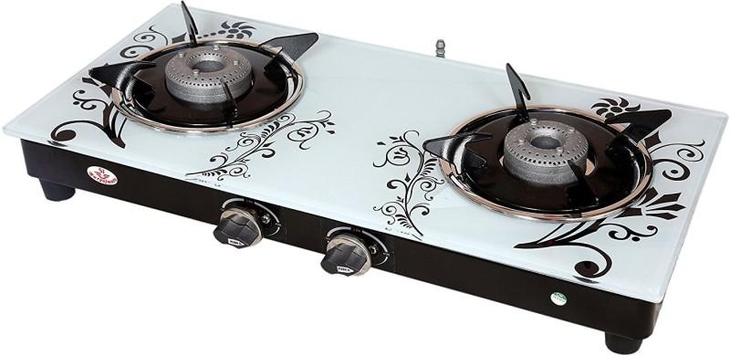 Suryajwala ROYALE GT02 SURYA AB 2 Burner White Design Stainless Steel Manual Gas Stove(2 Burners)
