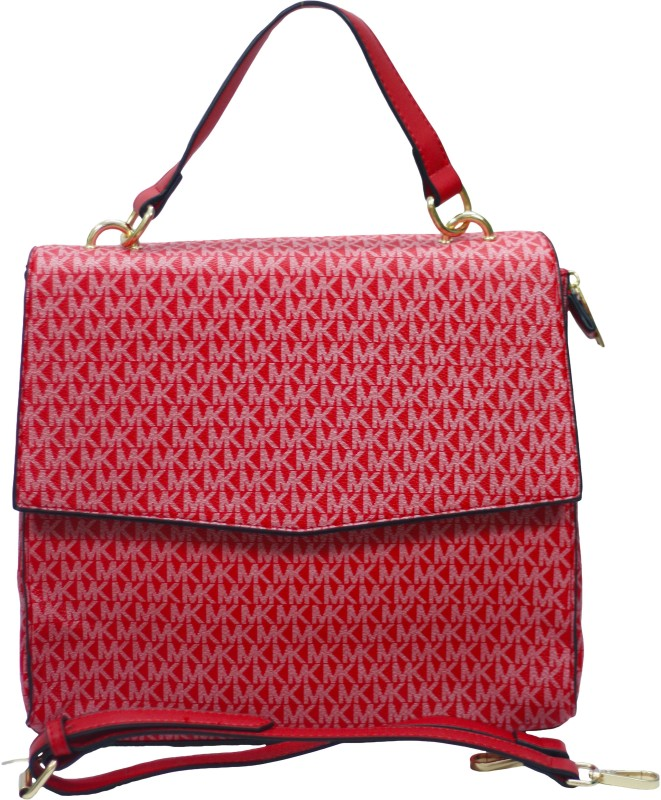 VS Creation Women Red Hand-held Bag