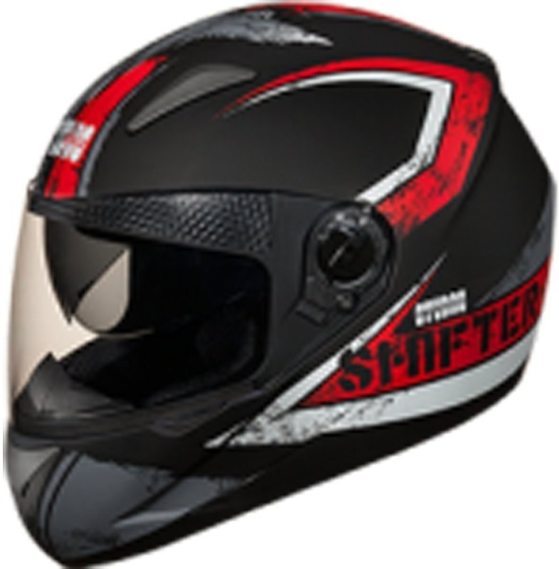 Studds Shifter Dashing Stylish Cool Black with Red ISI Certified Helmet Motorbike Helmet(Black, Red)