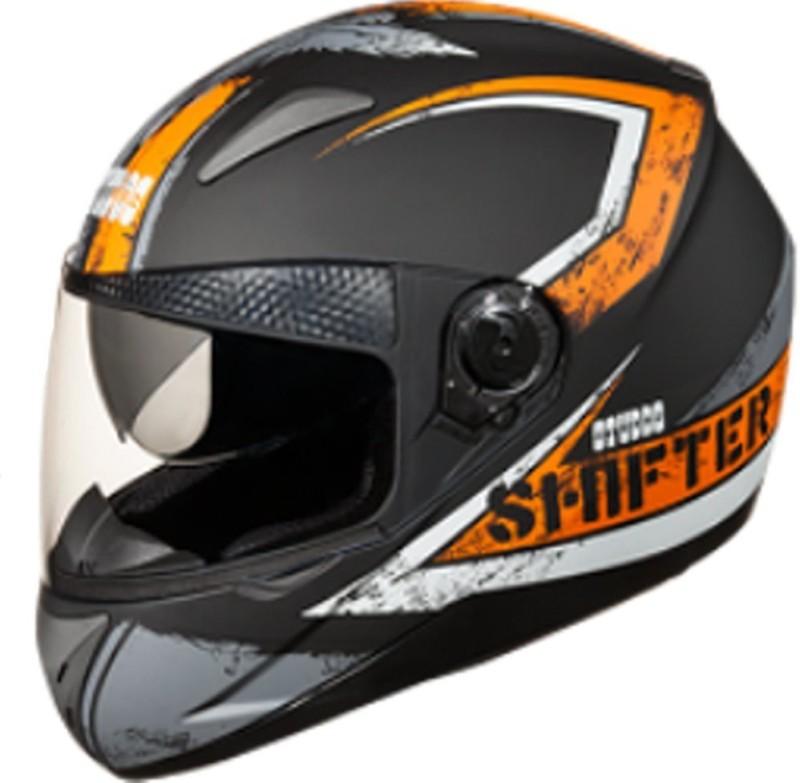 Studds Shifter Dashing D1 Decor Design Orange Sylish Designer ISI Certified Helmet Motorbike Helmet(Black, Orange)