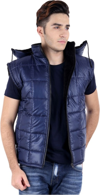 ShopyBucket Sleeveless Solid Mens Bomber Jacket Jacket