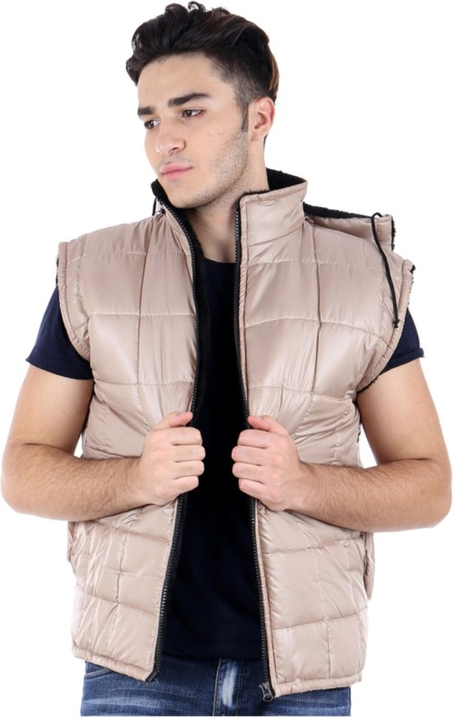 ShopyBucket Sleeveless Solid Mens Bomber Jacket
