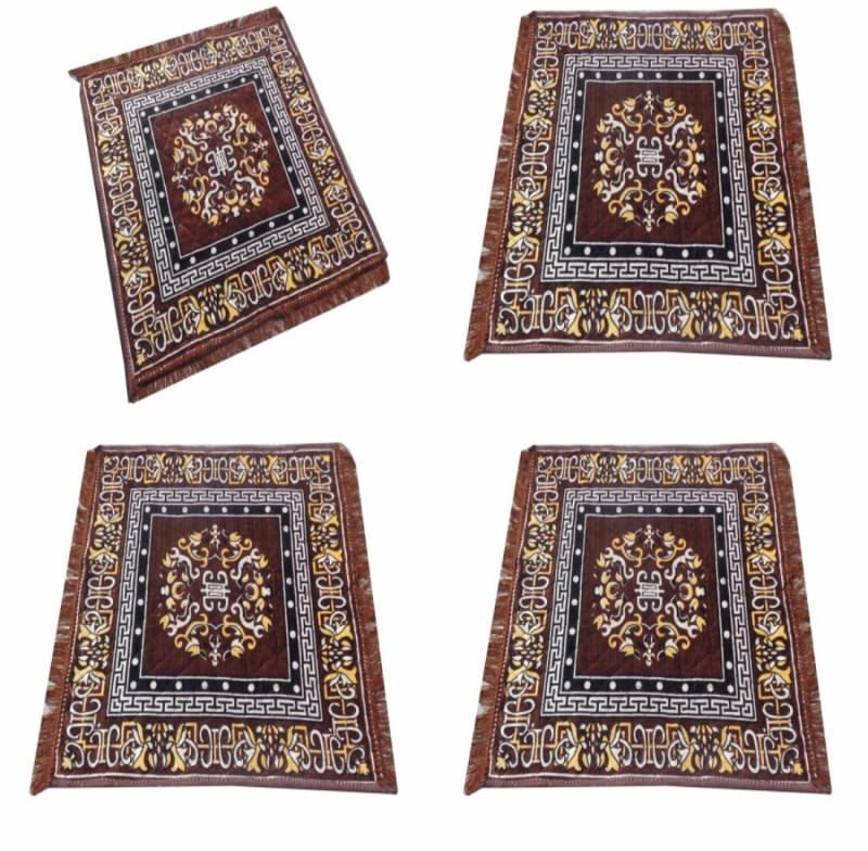 ASIAN HANDLOOM Polyester Prayer Mat(Brown, Medium)
