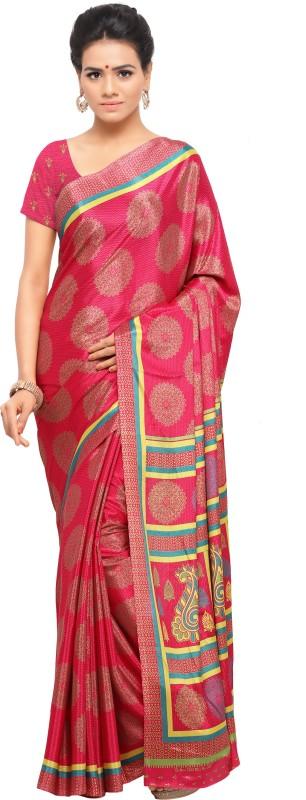 Sunaina Printed Bollywood Synthetic Crepe Saree(Multicolor)