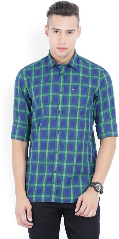 Arrow Sport Men's Checkered Casual Blue, Green Shirt