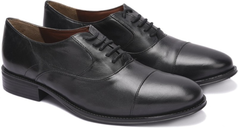 Arrow ALFORD Lace Up Shoes For Men(Black)