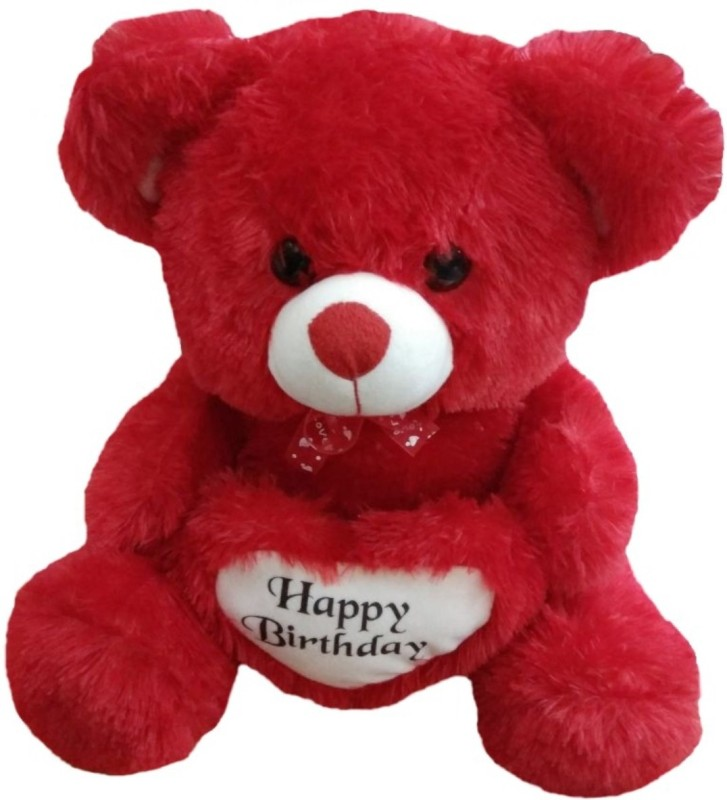 AVS Stuffed Spongy Hugable Cute Happy Birthday Teddy Bear - 45 cm(Red)