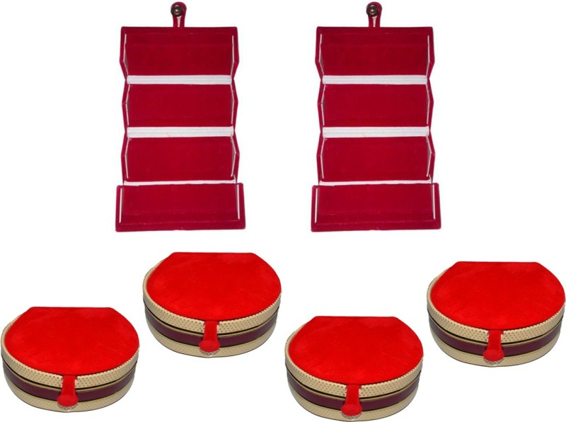 Aadhya Combo of Earring & bangle Folder pack of 6 Vanity Box(Multicolor)