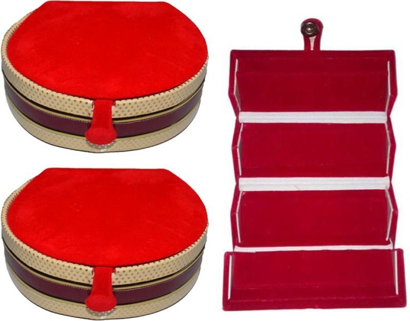 Aadhya Combo of Bangle & Earring folder pack of 3 Vanity Box(Multicolor)