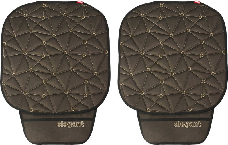 Elegant Cloth Seating Pad For Universal For Car Universal For Car(Driver, Co-Driver Black, Grey)