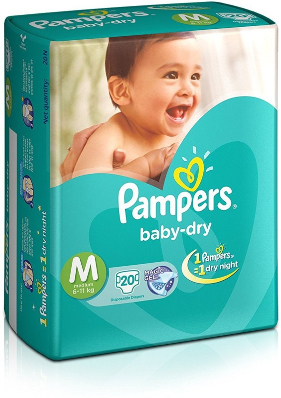 Pampers Baby-Dry Diapers - M(20 Pieces)