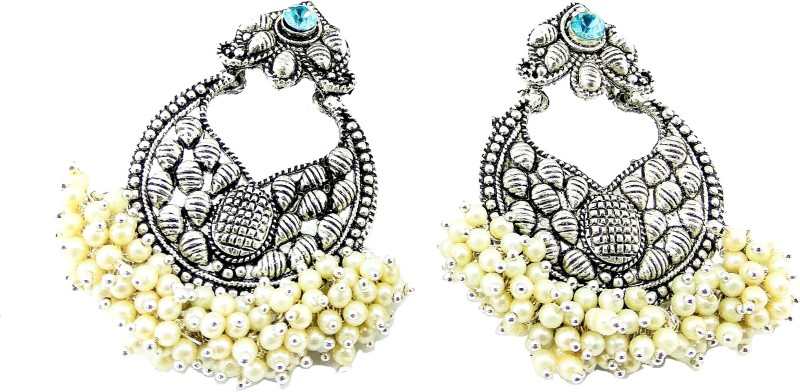 Jaisvi Collection Trendy Off-White Color Dangle & Drop Earrings For Women And Girls,BCJ-12 Pearl Alloy Jhumki Earring