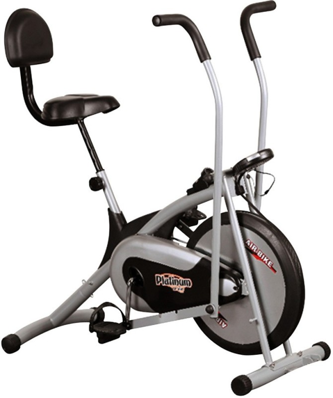 Body Gym Air Bike Platinum Dx With Backrest Indoor Cycles Exercise Bike(Black, Grey)