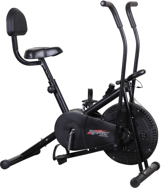 Body Gym Air Bike Bga 2001 With Backrest Indoor Cycles Exercise Bike(Black)
