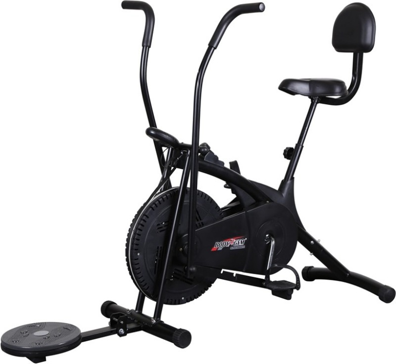 Body Gym Air Bike Bga 2001 With Backrest & Twister Indoor Cycles Exercise Bike(Black)