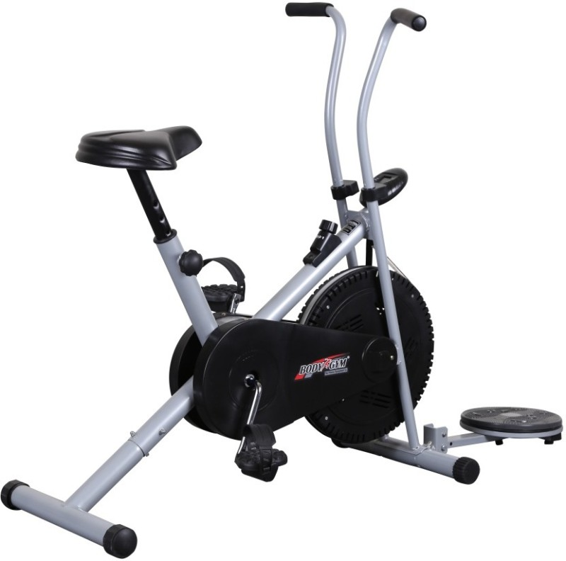 Body Gym Air Bike Bga 1001 With Twister Indoor Cycles Exercise Bike(Black, Grey)