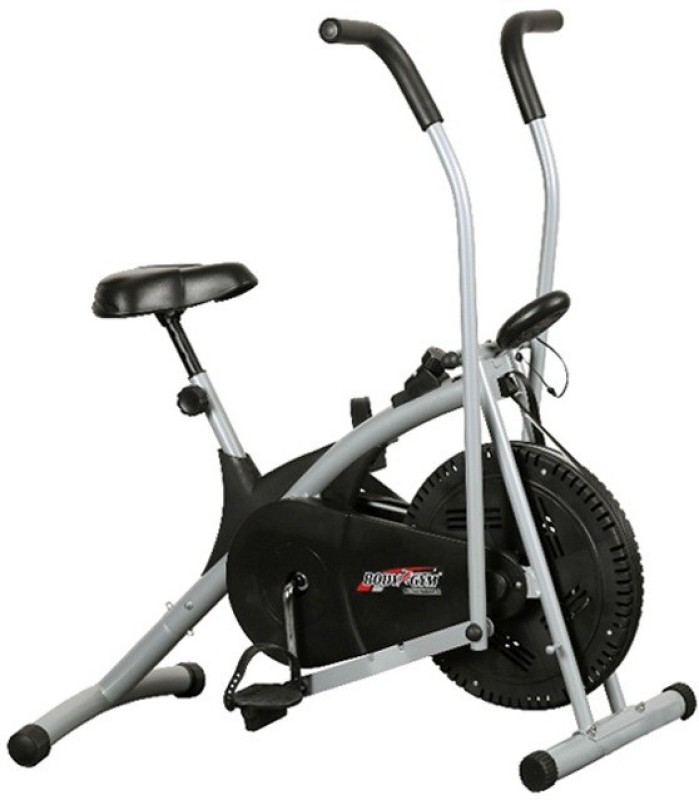 Body Gym Air Bike Stamina Indoor Cycles Exercise Bike(Black, Grey)