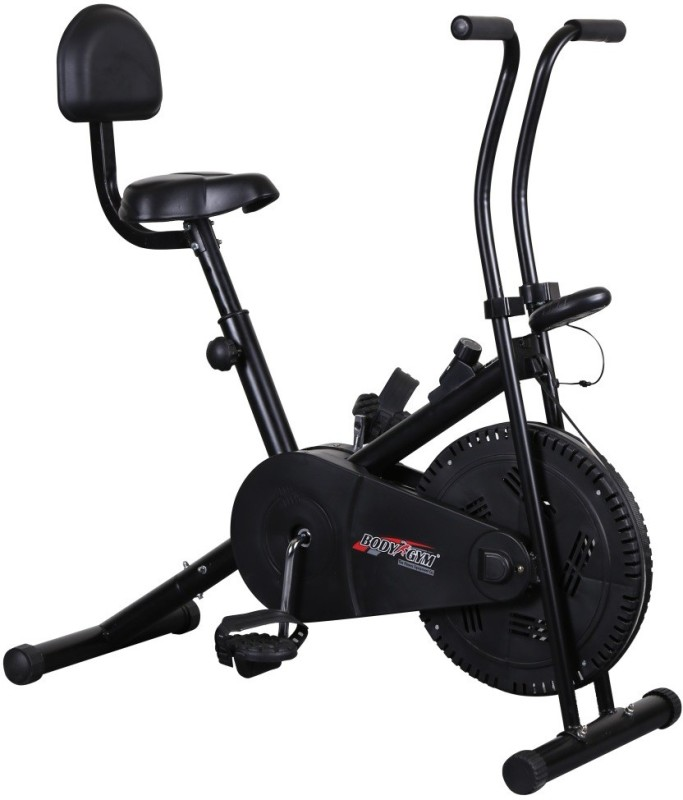 Body Gym Air Bike Bga 1001 With Backrest Indoor Cycles Exercise Bike(Black)