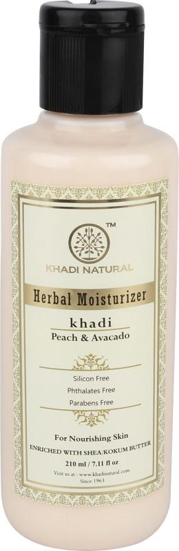 Khadi Natural Organic Peach & Avacado Moisturiser SLS & Paraben Free(210 ml)