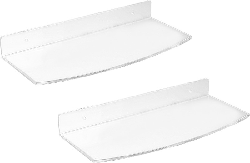 Admire 12'' Sleek Supreme Shelf 2pc Acrylic Wall Shelf(Number of Shelves - 2, Clear)