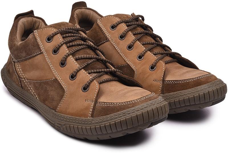 Andrew Scott Mens Tan Leather Hiking & Trekking Shoes For Men(Tan)
