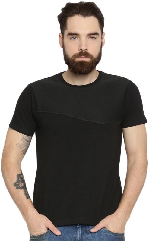 Roadster Solid Men Round Neck Black T-Shirt
