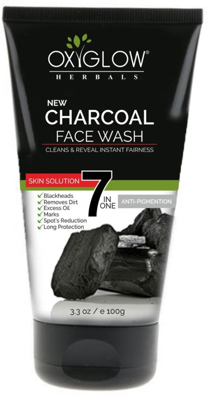 Oxyglow charcoal face wash Face Wash(100 g)