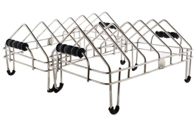 Magic's Max Utensils Basket Stand Stainless Steel Pack of 2 Stainless Steel Kitchen Rack(Steel)