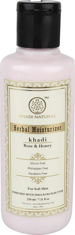 Khadi Natural Organic Rose & Honey Moisturizer SLS & Paraben Free(210 ml)