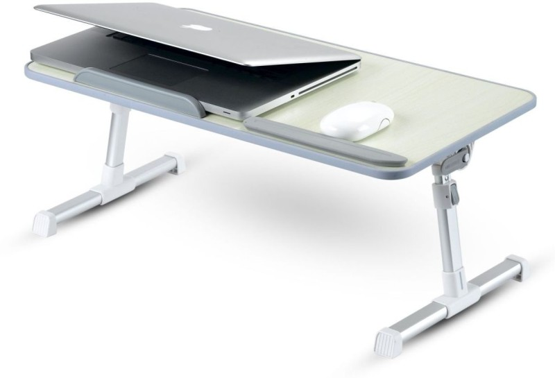 Portronics Cool Pad Wood Portable Laptop Table(Finish Color - Off White)