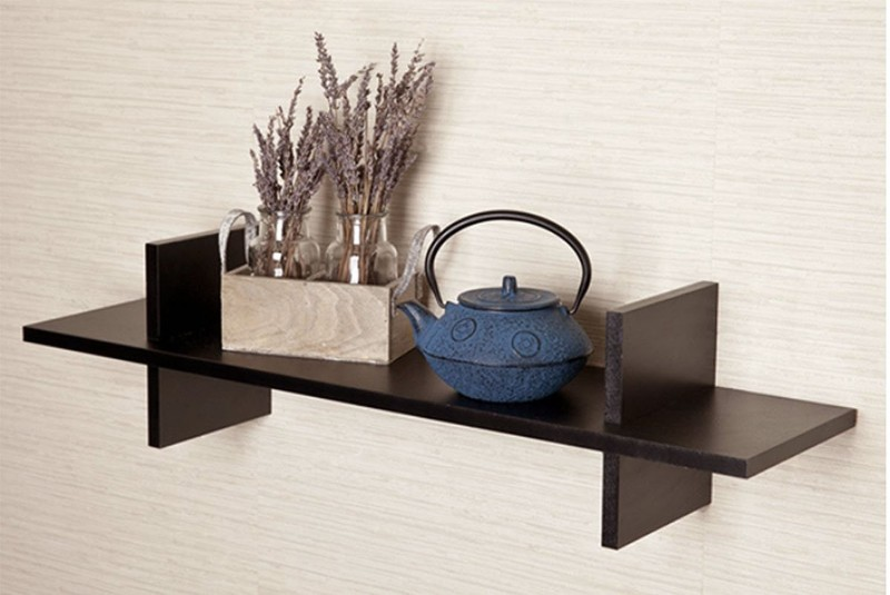 TECH DECOR Wooden Display Wall Shelves Wooden Wall Shelf(Number of Shelves - 1, Brown)