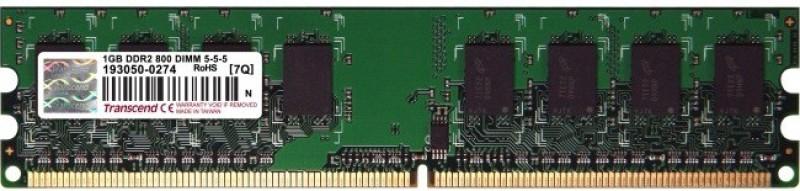 Transcend 1GB DDR2 800 DIMM DDR2 1 GB (Single Channel) PC 1 GB (8 x 128) DDR2 DIMMS (1GB DDR2 TRANSCEND 800 DIMM)(Multicolor)