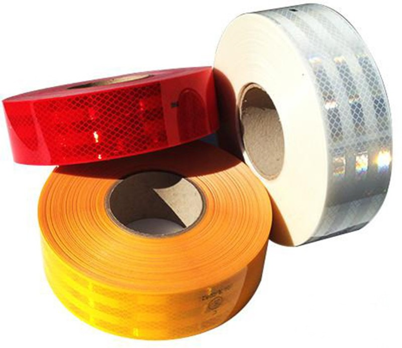 Arex 3M High Intensity Conspicuity Reflective Tape 50.8 mm x 0.6096 m Red, White, Yellow Reflective Tape(Pack of 1)