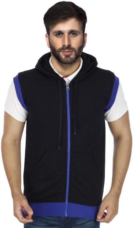 Sanvi Traders Sleeveless Solid Mens Sweatshirt