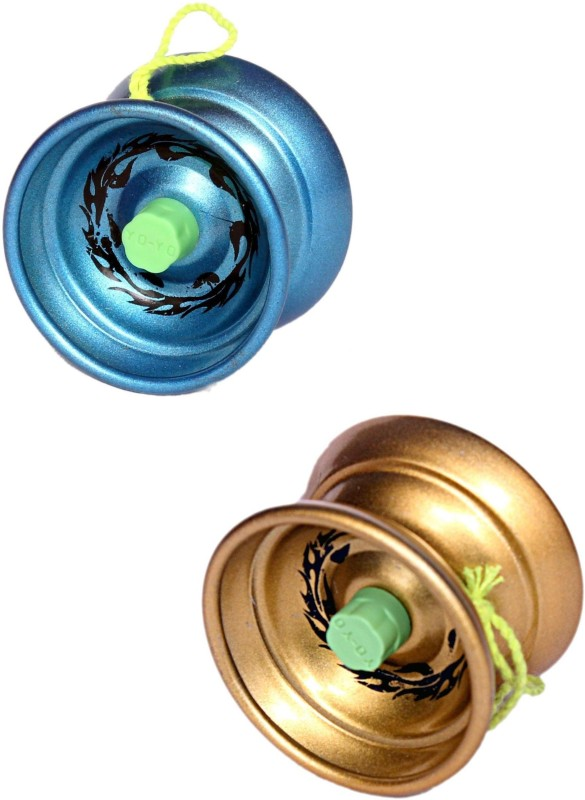 Homeshopeez Premium Quality High Speed Smooth Spin Diecast Metal - Set of 2 Toy Yoyo