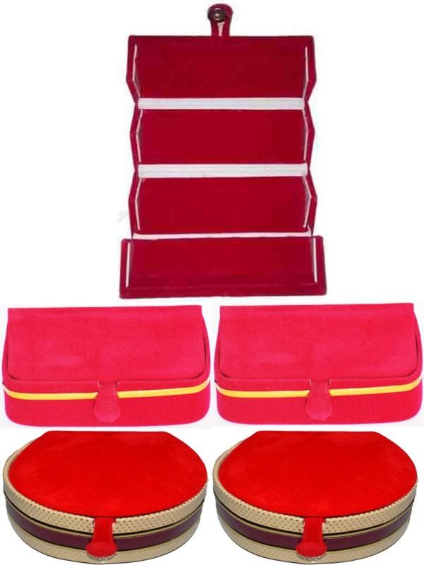 Aadhya combo of bangle & earring folder pack of 5 Vanity Box(Multicolor)