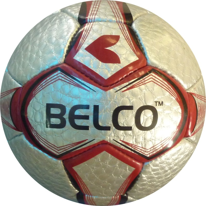 BELCO TYCOON 3 FOOTBALL Football - Size: 5(Pack of 1, SILVER RED)