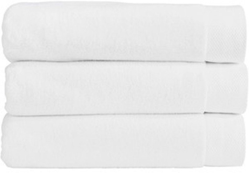 LABNO Cotton 350 GSM Bath Towel Set(Pack of 3, White)