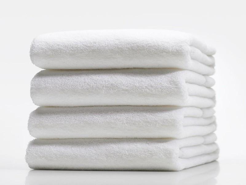 LABNO Cotton 350 GSM Bath Towel Set(Pack of 4, White)