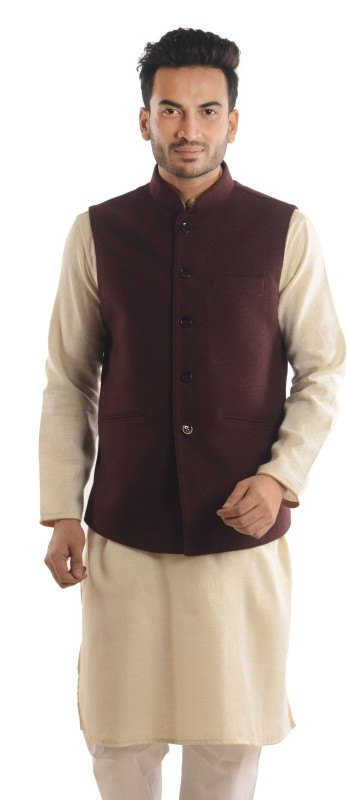 Roshan Sleeveless Solid Men Nehru Jacket