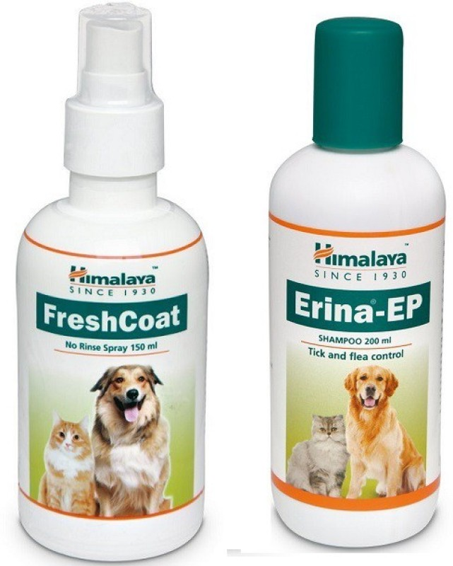 Himalaya Flea and Tick, Anti-dandruff Himalaya Fresh Coat Spary with Erina EP Shampoo For Dog and Cats By Pawsitively Care Dog Shampoo(200 ml)