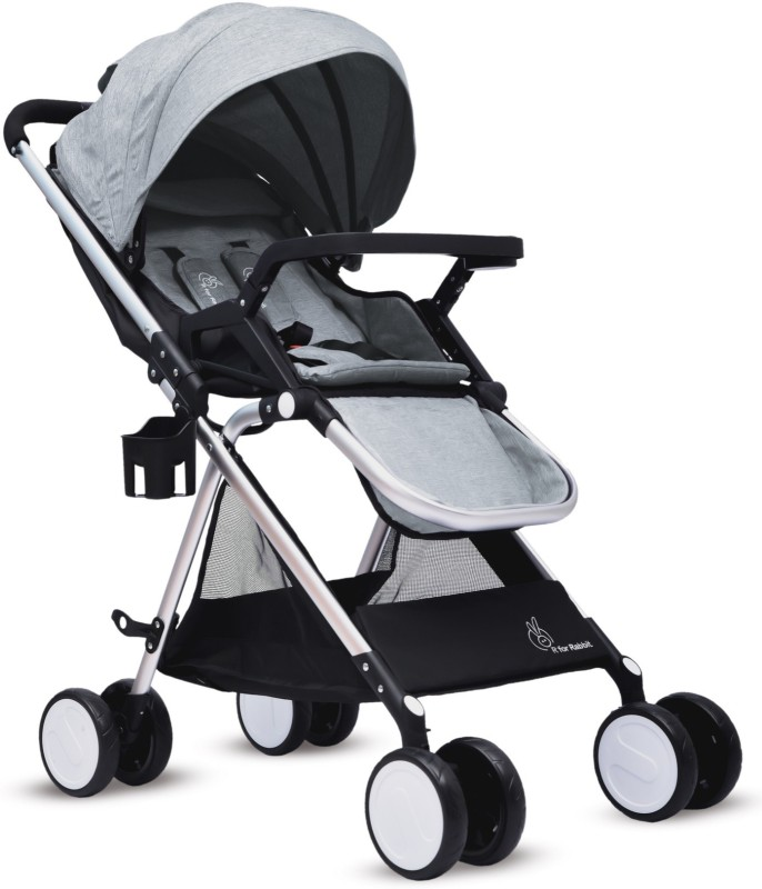 R for Rabbit Giggle Wiggle Stroller(Multi, Grey)