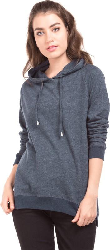 U.S. Polo Assn Full Sleeve Solid Women Sweatshirt
