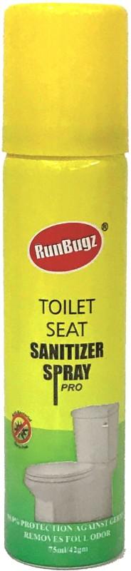 runbugz TOILET SEAT SANITIZER SPRAY 75ML Lemon Spray Toilet Cleaner(75 ml)